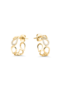 Lacrima Ear Pins in 18K Yellow Gold
