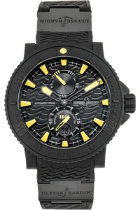 Marine Diver Black Sea Rubber Coated Stainless Steel Automatic