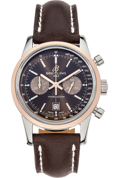 Transocean Chronograph Rose Gold and Stainless Steel Automatic