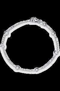 Floating Diamonds Bracelet in 18K White Gold