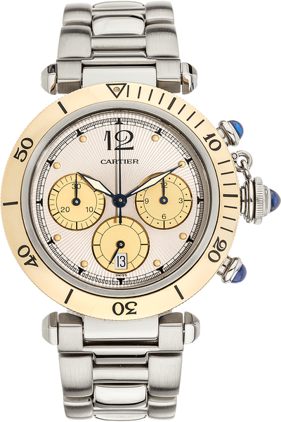 Pasha Diver Chronograph Yellow Gold and Stainless Steel Quartz