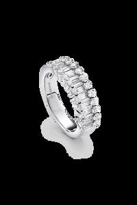 Baguette Love Ring in 18K White Gold