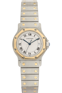 Santos Ronde Yellow Gold and Stainless Steel Quartz