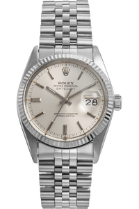 Datejust Circa 1980s White Gold and Stainless Steel Automatic