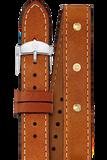 18MM Saddle Calfskin Gold Stud DoubleWrap Strap