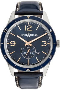 BR 123 Officer Blue Stainless Steel Automatic