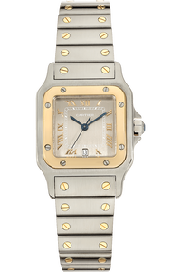 Santos Yellow Gold and Stainless Steel Quartz