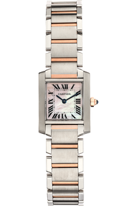 Tank Francaise Rose Gold and Stainless Steel Quartz