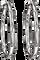 Bamboo Silver Medium Hoop Earrings