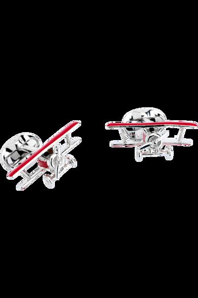 BiPlane Cufflinks with Rotating Propeller