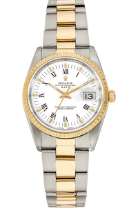 Date Yellow Gold and Stainless Steel Automatic