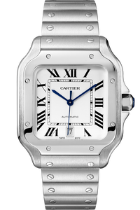 Santos de Cartier Steel, Large