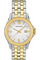 Men's Steel Two Tone White Dial Bracelet