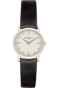 Patrimony Traditionnelle White Gold Quartz