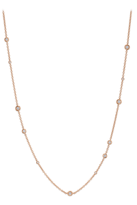 Floating Diamonds Necklace in 18K Rose Gold