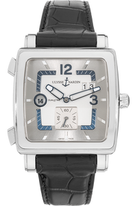 Quadrato Dual Time  Stainless Steel Automatic