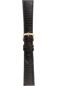 20 mm Black Lizard Strap