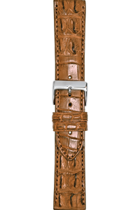 24 mm Tan Crocodile Strap