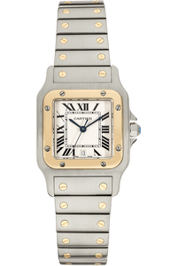 Santos Galbee Yellow Gold and Stainless Steel Quartz