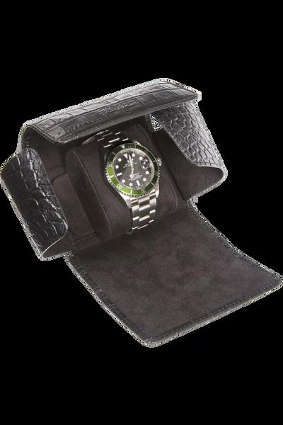 Black Berkeley Single Watch Roll