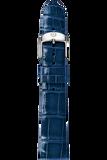 18MM Blue Thin Alligator Strap