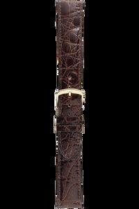 18 mm Brown Caiman Crocodile Strap