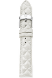 18MM White Quilted Strap