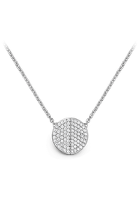B Dimension Necklace in 18K White Gold