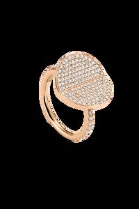 B Dimension Ring in 18K Rose Gold