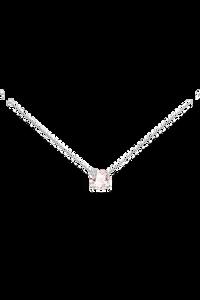 Peekaboo Necklace in 18K White Gold