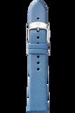 18MM Smokey Blue Thin Saffiano Strap