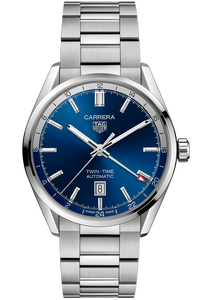 Carrera Calibre 7 Twin Time Automatic Blue Steel Watch