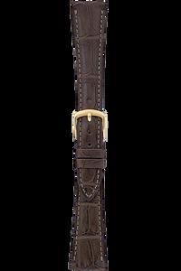 16 mm Brown Alligator Strap