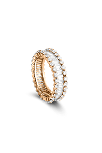 Baguette Love Ring in 18K Rose Gold
