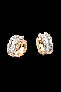 Baguette Love Ear Pins in 18K Rose Gold