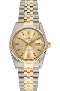 Datejust Circa 1980 Yellow Gold and Stainless Steel Automatic