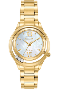 Eco-Drive Gold Tone Citizen L Sunrise LS