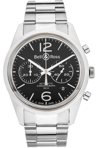 BR 126 Officer Black Stainless Steel Automatic