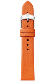 18MM Burnt Orange Thin Saffiano Strap