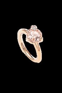 Peekaboo Ring in 18K Rose Gold