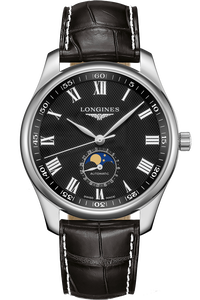 The Longines Master Collection 40MM Moonphase Alligator Strap