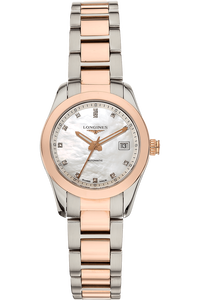 Conquest Classic  Rose Gold and Stainless Steel Automatic