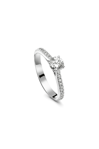 Joy Mounted Solitaire in 18K White Gold