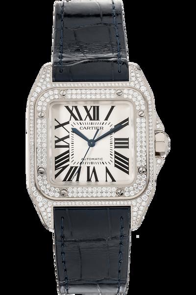 Santos 100 White Gold Automatic