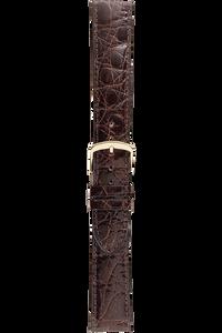 16 mm Brown Caiman Crocodile Strap