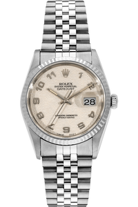 Datejust Tritium Swiss Made Lug Holes White Gold and Stainless Steel Automatic