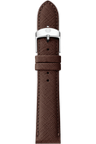 18MM Brown Saffiano Leather Strap