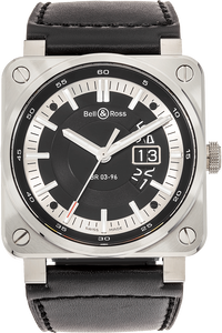 BR03-96 Grande Date Stainless Steel  Automatic