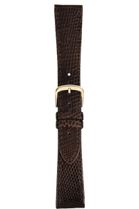 17 mm Brown Lizard Strap