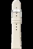 16MM Natural White Thin Saffiano Strap
